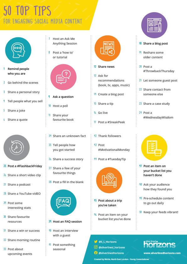 50 Social Media Top Tips
